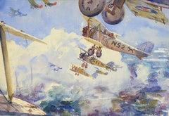 Biplanes In Flight