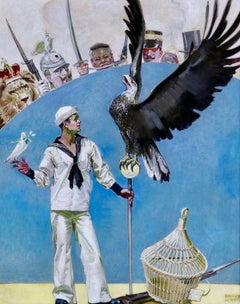Sailor with Eagle and Dove, Life Magazine Cover, January 1914