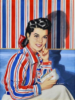 Wallpaper Blouse, Saturday Evevning Post Cover, October 1941
