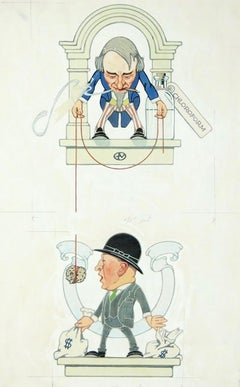 """Uncle Sam's Income"" Story Illustration, Saturday Evening Post, 1923"