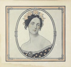 Portrait of a Woman, Saturday Evening Post Cover, March 1907