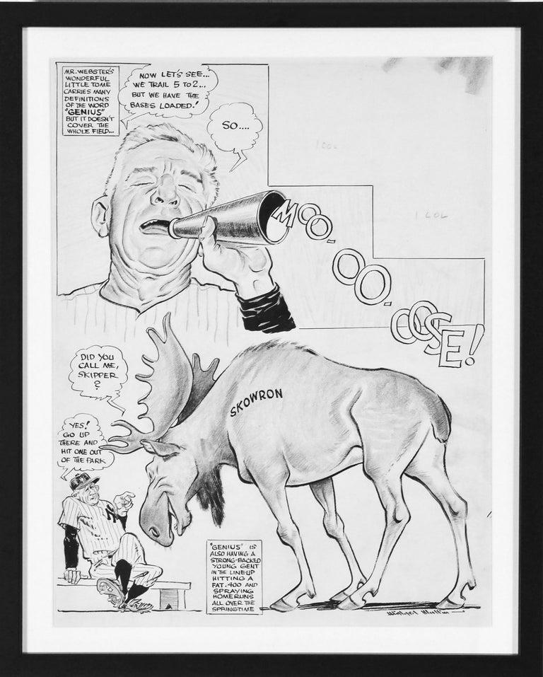 Moo-oo-oose!  - Art by Willard Mullin