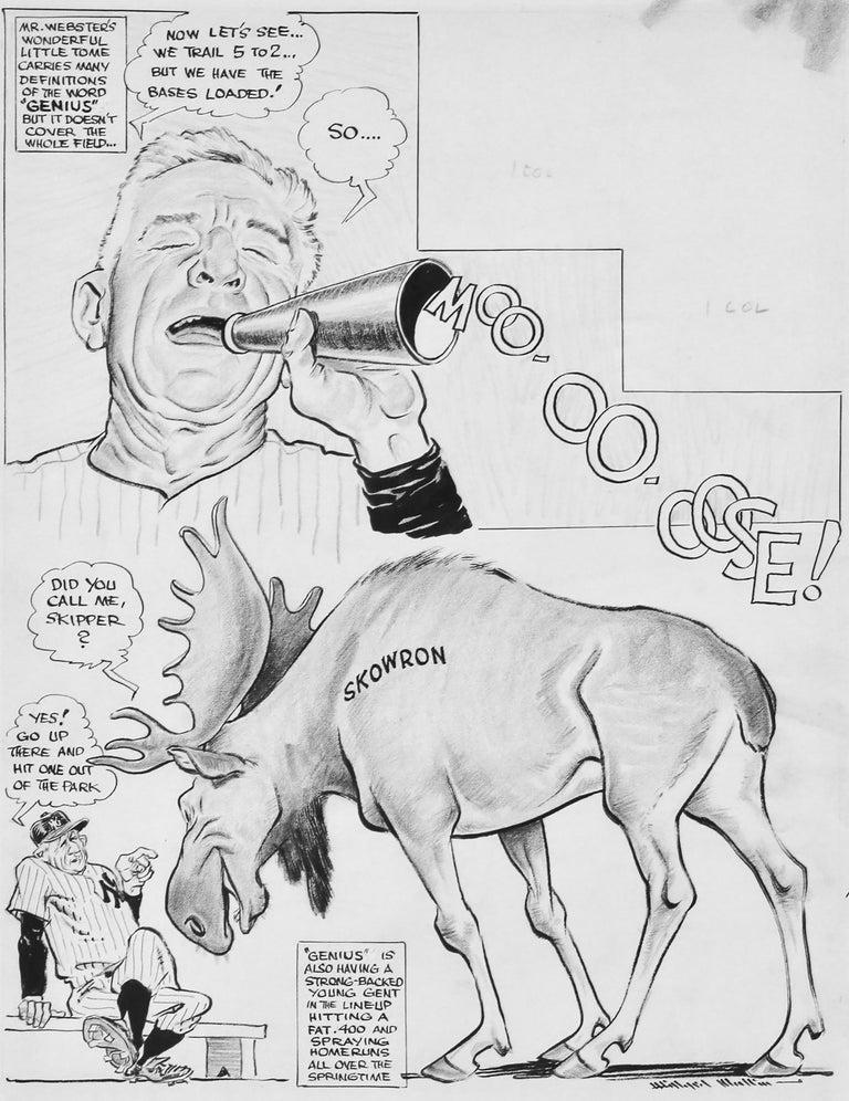 Willard Mullin Figurative Art - Moo-oo-oose!