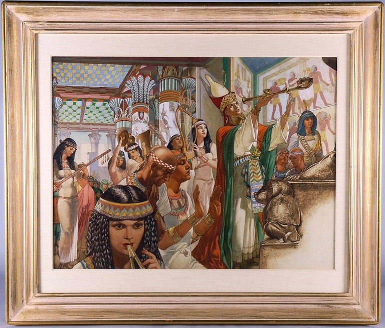 Nero's Temple On The Nile - Art by Willy Pogany