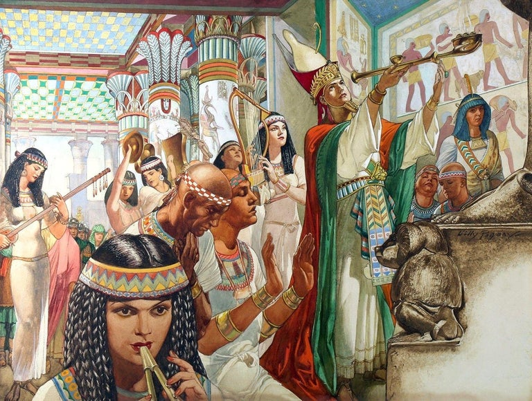 Willy Pogany Figurative Art - Nero's Temple On The Nile