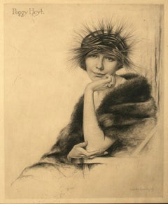 Portrait of Peggy Hoyt in Art Nouveau Hat