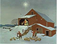 Holy Family in Barn