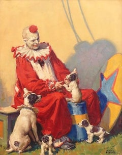 Circus Clown with Dogs, Cover for Country Gentleman, April 1929
