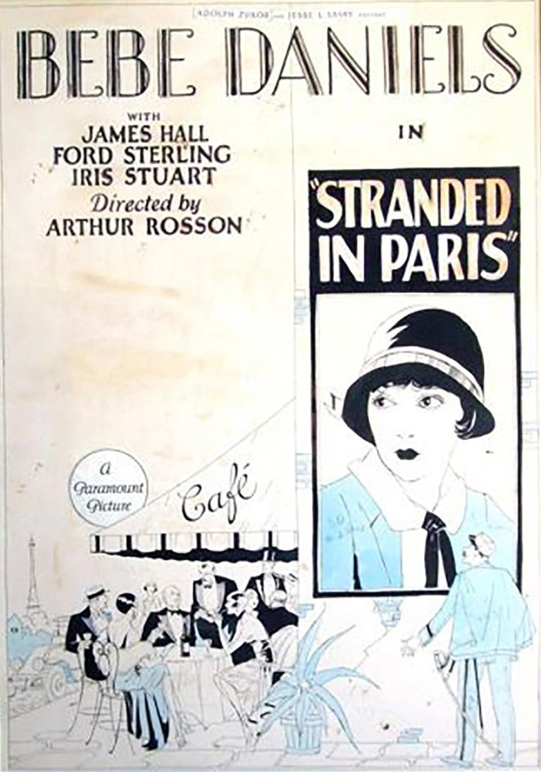 """Unknown Figurative Art - """"Stranded in Paris"""" Movie Poster"""
