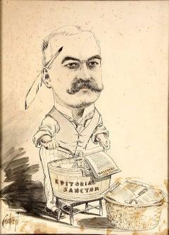 "1890 Political Cartoon by ""Crichton"" of Michael Henry de Young"