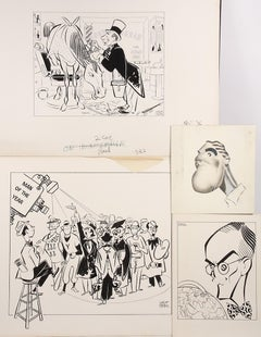 Caricatures of Unknown Shows and Subjects