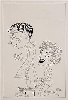 "Caricature to Promote Sitcom Debut, ""The Tom Ewell Show,"" 1960"