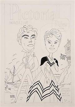 "Betsy Palmer and Richard Greene in ""The Wayward Widow"""