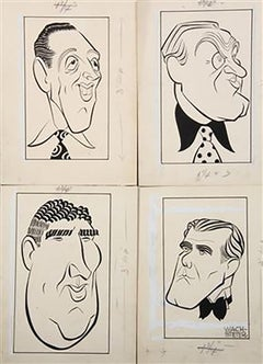 Caricatures of Four Broadway Male Stars, Sept. 1946 (4)