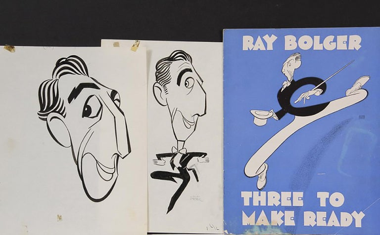 """George Wachsteter Figurative Art - Ray Bolger in """"Three to Make Ready"""" & """"Where's Charley?"""""""