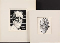 Playwright, George Bernard Shaw (2 Illustrations)