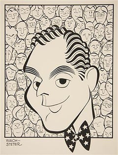"""Caricature for NBC-TV Host Dan Seymour, for September 1951, """"We the People"""""""