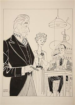 """Caricature Promo for 1959 Broadway Play, """"The Gang's All Here"""""""