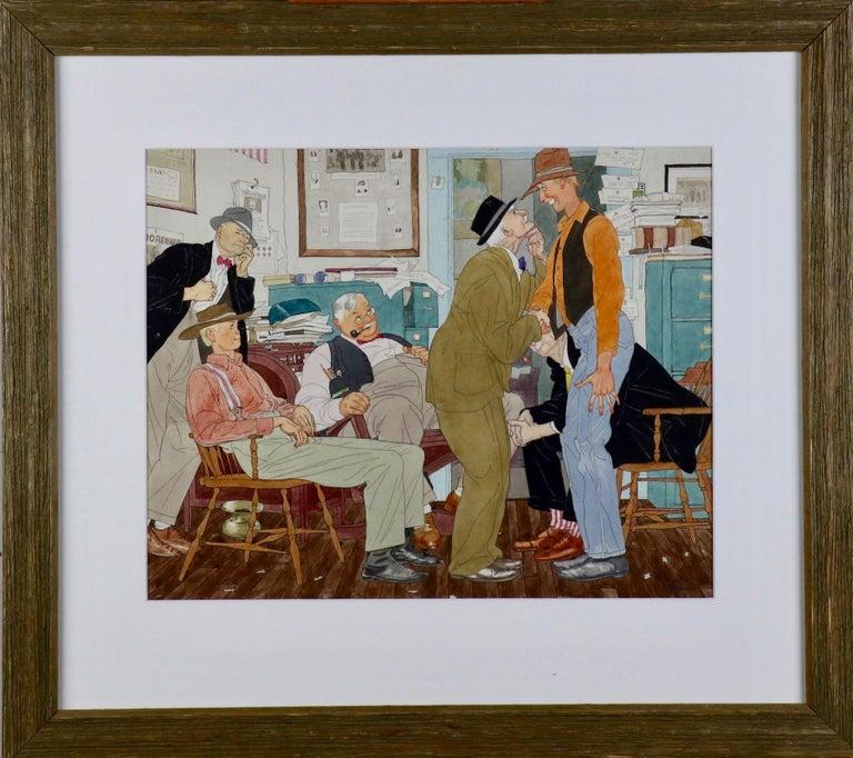 Men in Newspaper Office - Art by Harry Beckhoff