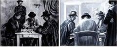 """Canvas Confidential Paul Cézanne """"Card Players"""" Original Art"""