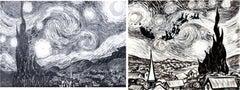 "Canvas Confidential Vincent Van Gogh ""Starry Night"" Original Art"