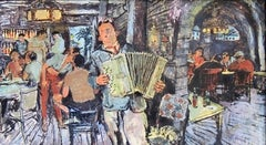 Accordion Player in Tavern