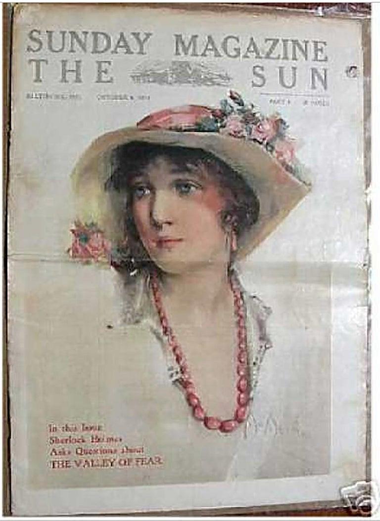 Medium: Pastel on Board Signature: Signed Lower Right  Sunday Magazine The Sun Cover, October 4, 1914.