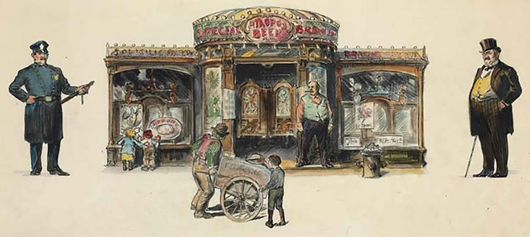 John French Sloan Figurative Art - The Saloon In New York