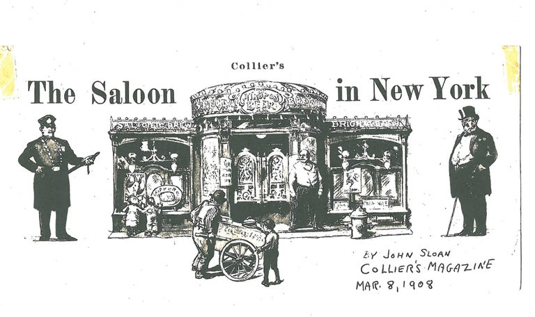 The Saloon In New York - Art by John French Sloan