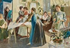 """The Bachelor Girls' Christmas,"" Story Illustration"