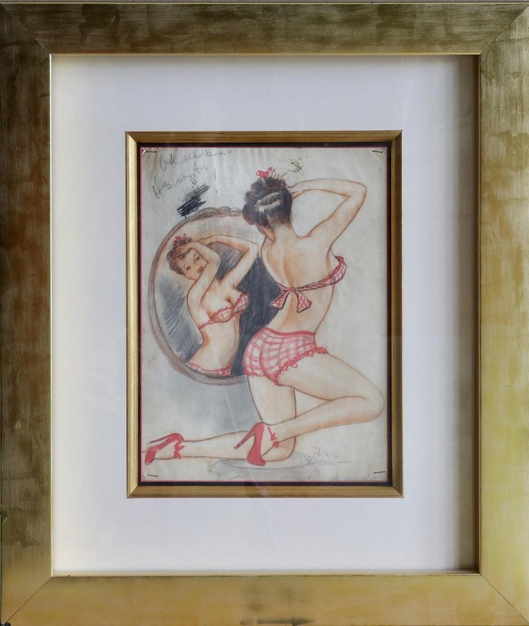 Lady and The Mirror - Art by Peter Driben