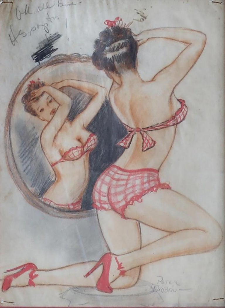 Peter Driben Figurative Art - Lady and The Mirror