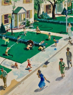 Water Fight, Saturday Evening Post Cover
