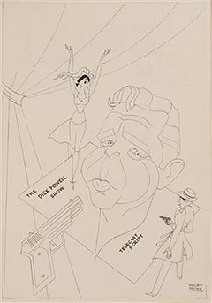 "Caricature of ""The Dick Powell Show"""