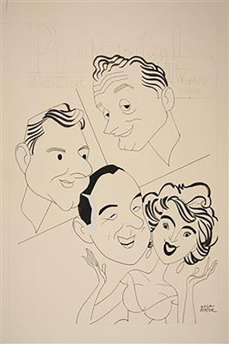 "George Wachsteter Figurative Art - TV Hosts, 1959 ""What's My Line?"""