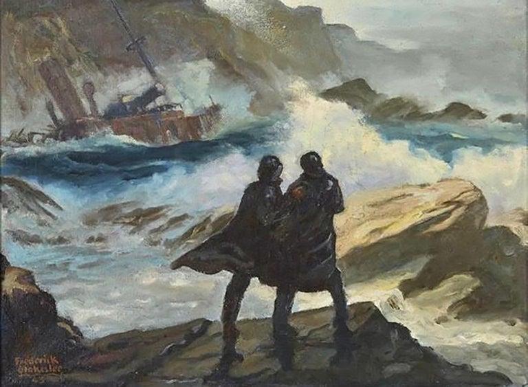 Frederick Blakeslee Figurative Art - Toll of the Rocks