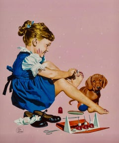 Painting Her Toenails, American Weekly Magazine Cover
