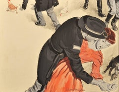 Soldiers Attacking Woman and Farm Animals