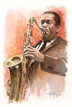 John Coltrane Portrait - Appeared in Love Supreme Album Revised