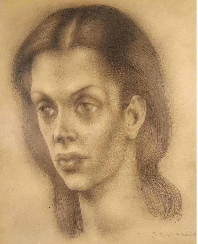 Portrait of Bachoo, Countess Woronzow - Art by Pavel Tchelitchew
