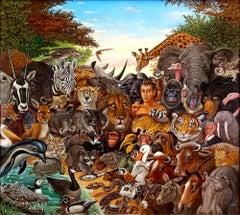 Animal Kingdom, Zebra, Buffalo, Lion, Giraffe, Elephant, Monkey, Tiger,  Gorilla