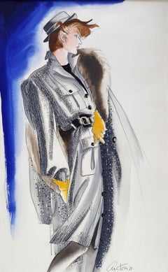 Vogue Magazine, Elegant Fashion Illustration for Adel Simpson
