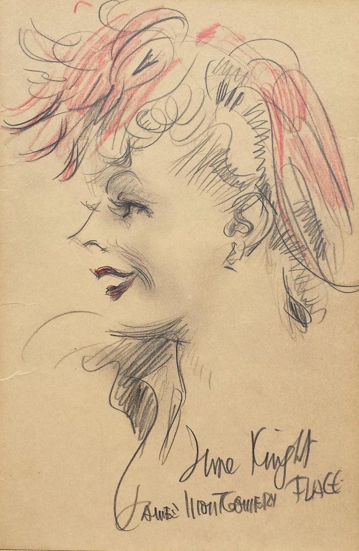 James Montgomery Flagg Portrait - Actress June Knight