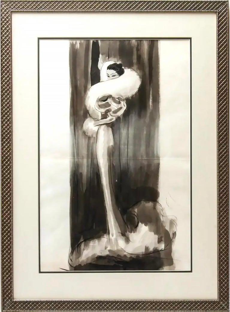 Eduardo Garcia Benito Figurative Art - Art Deco Vogue Magazine Illustration