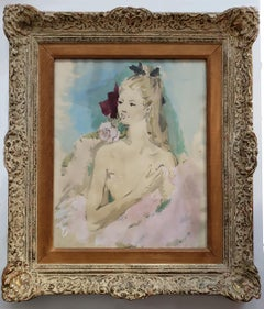 Beautiful Girl with Rose in her Mouth ( House of Heydenryk Frame)