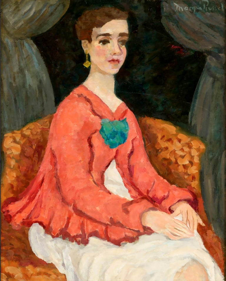 Morgan Russell Portrait Painting - Portrait of a Woman