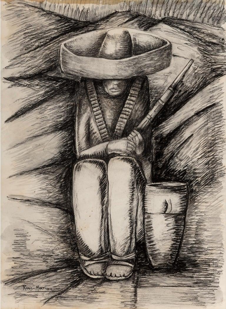 Alfredo Ramos Martinez Abstract Drawing - Zapatista Asentado