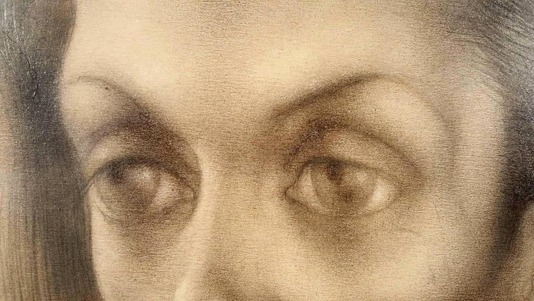 Portrait of Bachoo, Countess Woronzow - Surrealist Art by Pavel Tchelitchew