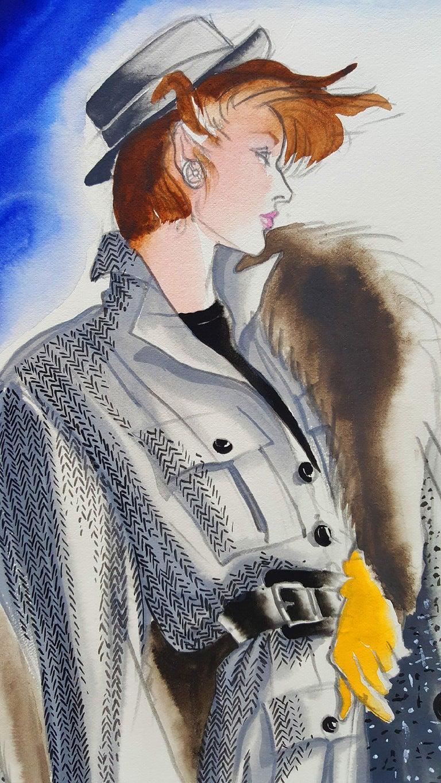 Vogue Magazine, Elegant Fashion Illustration for Adel Simpson  - Art by Antonio Lopez