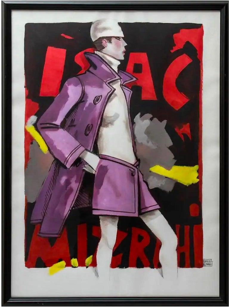 Issac Mizrahi illustration - Art by Michaele Vollbracht